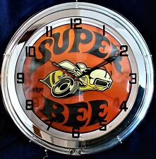 "DODGE SUPER BEE 19"" NEON WALL CLOCK"