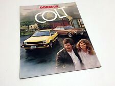 1979 Dodge Colt Hatchback Sedan Coupe Wagon Brochure
