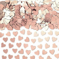 Rose Gold Heart Wedding Birthday Hen Night Sprinkles Confetti Table Decoration