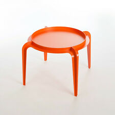 Designers Contemporary Round Coffee Table, Bent Sheet Metal, Powder Coated, Oran