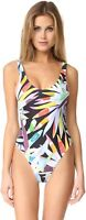 Mara Hoffman 170644 Womens Mia One Piece Swimsuit Black/Multi Size X-Small
