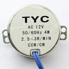 New AC Stock Synchronous Synchron Motor 50/60Hz AC 12V 4W 2.5/3RPM CCW/CW J96o