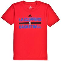 LA Clippers T-Shirt Boys Youth Short Sleeves On-Court Practice adidas ClimaLITE