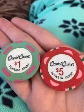 Crystal Casino Sonesta Aruba $5 & $1 Chips Blackjack Craps Poker Roulette (KC)