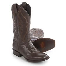 Steton Men's Boone US 10.5 D Brown Leather Square Toe Western Cowboy Boots $370