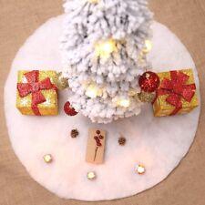 Tappeto Bianco 90 cm x Alberi di Natale Gonna Tonda Bianca Decorativa in Peluche