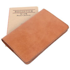 Leather Pocket Journal Refillable Ruled Notebook Saddle Tan USA Made No. 27
