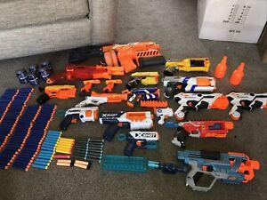 Huge Nerf Gun Bundle Accessories And Bullets