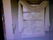 "Window Scarf, White, 42""w X 216"" L, New in package"