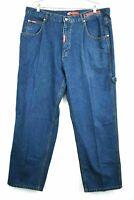 Vintage Big Baby Men's Size 40 Carpenter Denim Cargo Blue Jean Pants Wide Leg