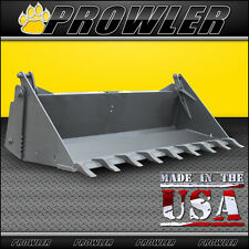"84"" Prowler Extreme Duty 4-n-1 Bucket with Teeth Skid Steer Attachment - 84 Inch"