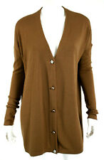 THE ROW Caramel Brown Wool Blend Cardigan Sweater M