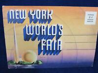 Vintage 1939 New York Worlds Fair Fold Out Postcard Souvenir Fresh from Storage