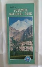 1979 AAA Guide to Yosemite National Park Road Map