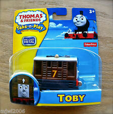 Thomas & Friends TOBY Take-N-Play diecast 7 Steam Tram tank engine train brown