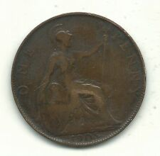 Very Nice Vintage 1905 Great Britain English Large Penny Cent-Jun186