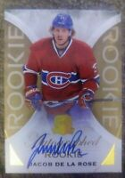 2015 16 UD The Cup Jacob de la Rose Rookie Gold Autograph /36 Montreal St-Louis