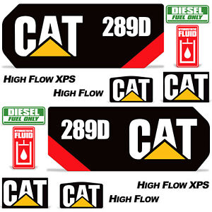 Sticker Decals Graphic kit for Caterpillar CAT 289D Compact Track Loader