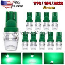 10x Green T10 Wedge High Power 1W LED Light Bulbs W5W 168 192 194 501 2825