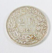 2. Fr. Münze Schweiz 1921  B    selten    (S71)