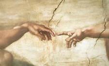 The Creation of Adam (detail) Michelangelo Renaissance Print Poster 16x20