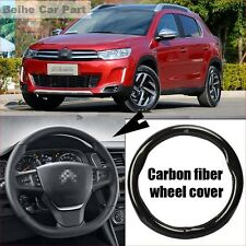 For Citroen C3-XR Carbon Fiber Leather Steering Wheel Cover Sport Racing case