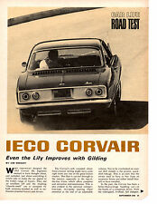 1965 IECO CORVAIR 164/156 HP ~ ORIGINAL 5-PAGE ROAD TEST / ARTICLE / AD