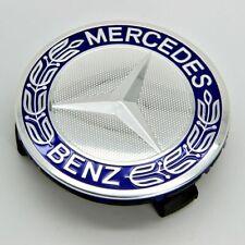 1PCS Car Wheel Center Cap For Mercedes-Benz S CLK Blue 75mm Emblem Badge Logo