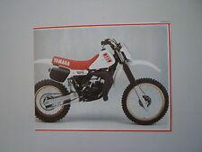 - RITAGLIO DI GIORNALE ANNO 1982 - MOTO YAMAHA YZ 125