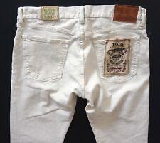 Polo Ralph Lauren Nwt Anderson Chalk Hampton Straight Fit Stretch Denim Jeans