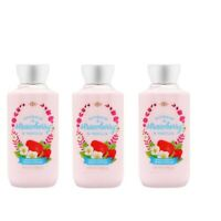 LOT OF 3 Bath And Body Works Bourbon Strawberry & Vanilla Body Lotion 8oz/236ml