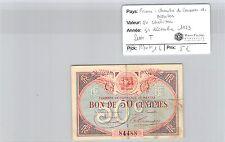 CHAMBRE DE COMMERCE NANTES - BILLET DE 50 CENTIMES 31-12-23 LETTRE T