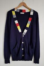 FOLK CLOTHING LADIES NAVY WOOL BLEND CARDIGAN SIZE 3 UK 12
