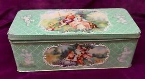 Vintage Jacob's Biscuit Tin Fragonard/cupid designs valentines