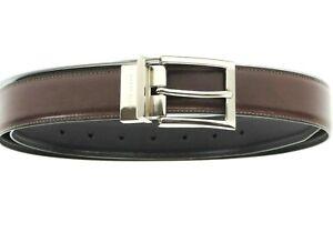 Perry Ellis Men's Reversible Faux Leather Belt, Brown/Black, Size: 36