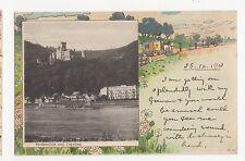 Germany, Stolenfels und Capellen 1901 Postcard, A533