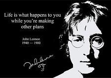 John Lennon Ispiratore Citazione POSTER (2) con pre PRINTED Autograph