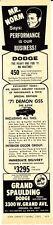 1971 DODGE DEMON GSS 340-6 MR NORM / GRAND SPAULDING DODGE ~ ORIGINAL DEALER AD