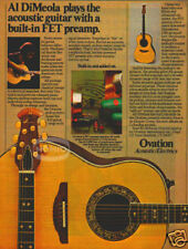 OVATION GUITAR PINUP AD vtg 70's Al DiMeola FET preamp