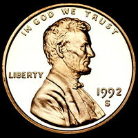 1992 S  Lincoln Memorial Penny Mint Proof Coin ~ From Original U.S. Proof Set