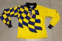 VTG Mens Lotto CROATIA 1998 Sz XS World Cup Goalkeeper Black soccer jersey