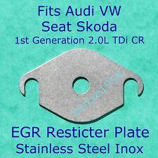 EGR valve restrictor block plate VW SEAT SKODA  AUDI For 2.0L TDi CR 1st Gen