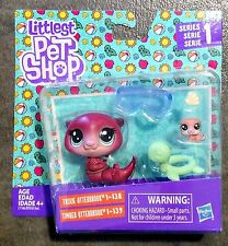 🐾🐹Otters Littlest Pet Shop Mommy & Teensie Baby TRIXIE OTTERBROOK & TIMBER LPS