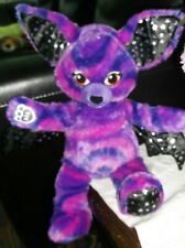 "Build a Bear Starry Night Vampire pink purple plush stuffed animal bat 17"" EUC"