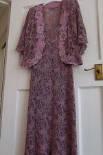 ANN BALON Italian Lace Outfit. Size S, 8-10-12. Stunning Dress & Jacket.