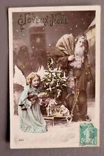 JOYEUX NOEL MERRY CHRISTMAS. PERE NOEL. CARTE POSTALE ANCIENNE.