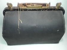Vintage Antique Leather Doctor Medical Bag Lined