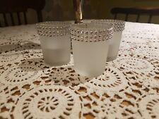 3  x Sparkle Tea Light Votive Holders with Candles