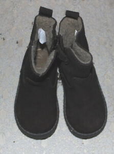 Toddler Girls BABY GAP Chelsea Brown Suede Leather Lined Boots Size 6