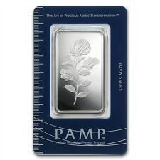 PAMP Suisse Rose Rosa 1 oz .999 Silver Bar